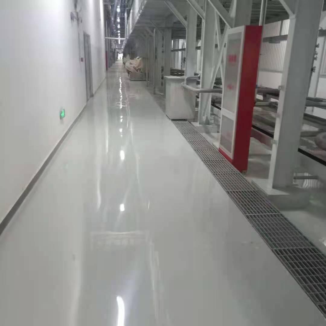 上海汽车集团股份有限公司车间地面聚氨酯砂浆地坪案例!