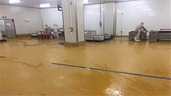 青岛惠都食品厂车间聚氨酯砂浆案例