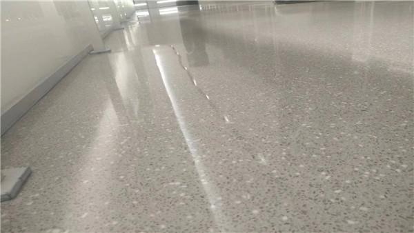 北京三联耐克磨石地坪案例
