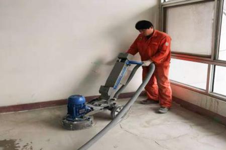 环氧防静电自流平-墙面边无尘研磨