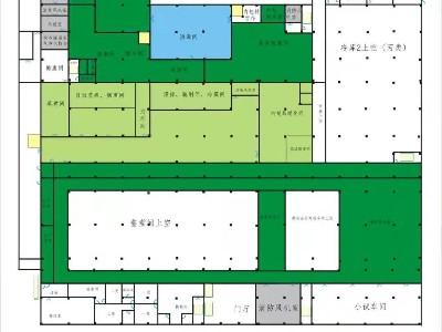 酱料生产车间地面平面图